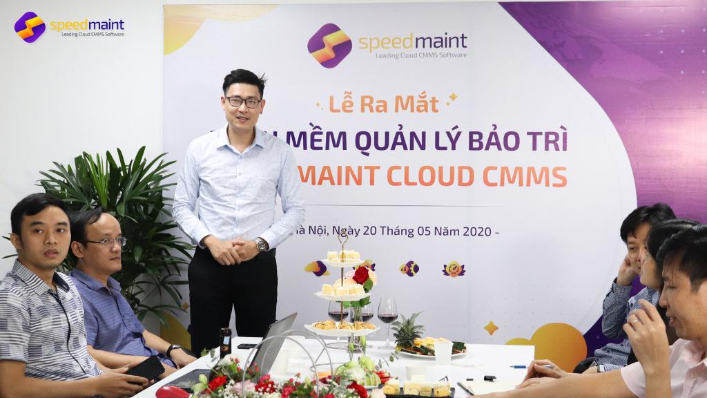 Giám đốc Marketing Đinh Minh Quân chia sẻ kế hoạch ra mắt và đưa sản phẩm lên thị trường CMMS trong thời gian tới