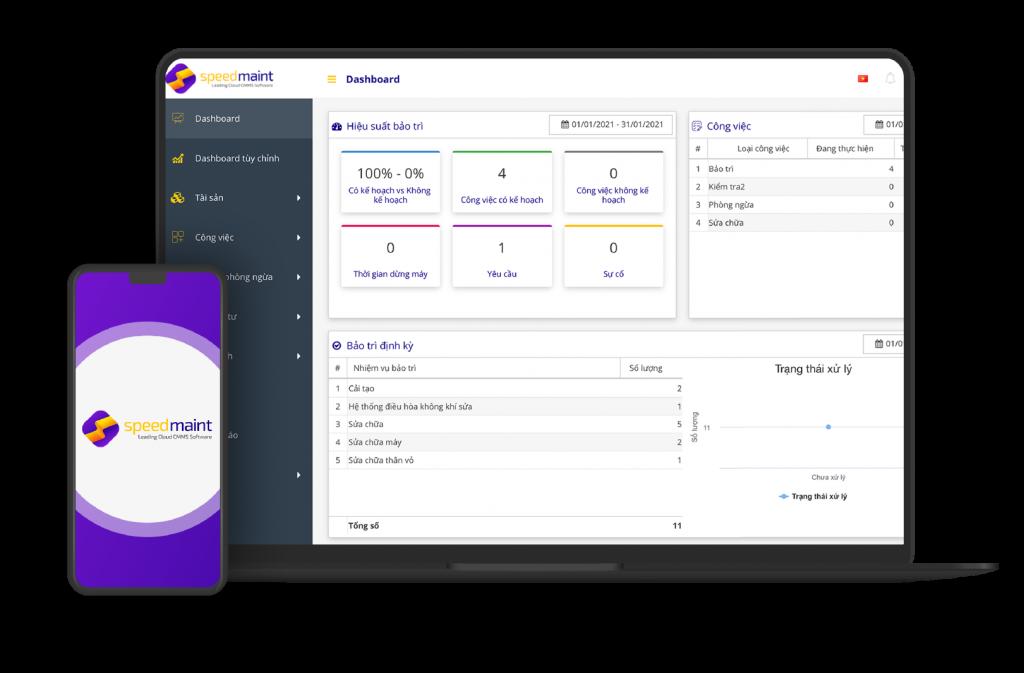 Giới thiệu phần mềm quản lý bảo trì Speedmaint CMMS