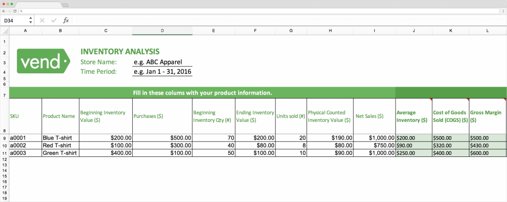 Mẫu Excel phân tích dữ liệu quản lý kho hàng